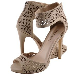 Nude Heels with Cut Out Details
